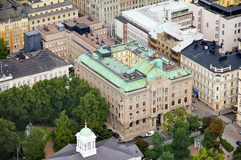 Lönnrotinkatu 5 Ilmakuva Vuokrattavat toimitilat Helsinki