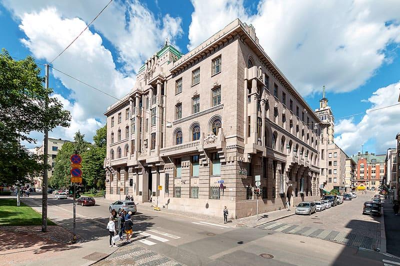 Lönnrotinkatu 5 Julkisivu Vuokrattavat toimitilat Helsinki