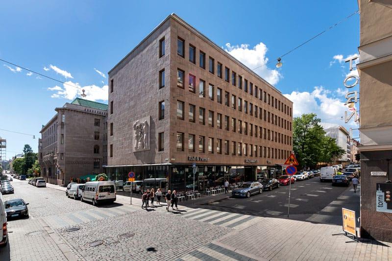 Kalevankatu 6 Julkisivu Vuokrattavat toimitilat Helsinki