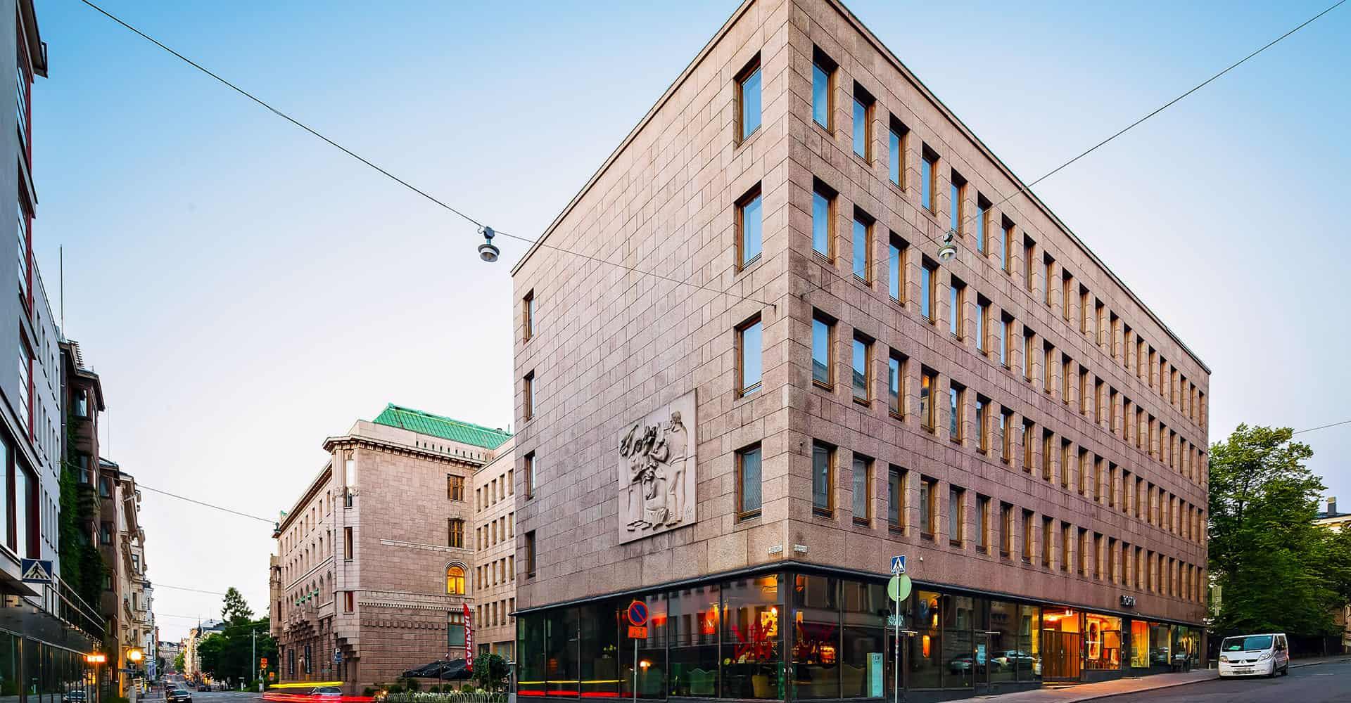 Suomitalo julkisivukuva Kalevankatu 6 Vuokrattavat toimitilat Helsinki